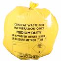 Låda med 50st Gula Kliniska Soppåsar