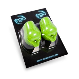 2-pack Silikon EGO Biogrips (No Back Lip) i Grön - Upp till 19MM Tuber