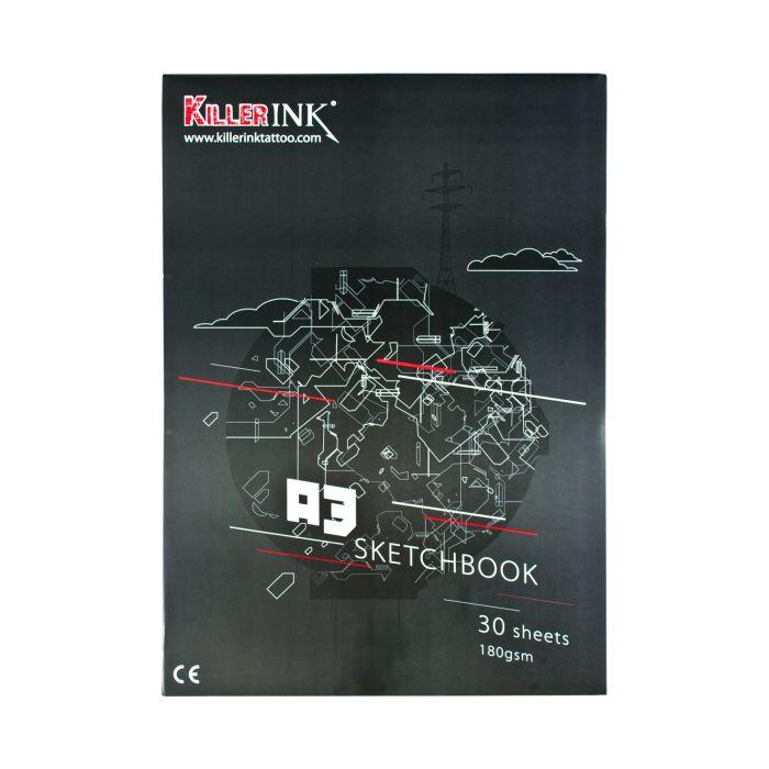 Killer Ink 180GSM Hög Artistisk Kvalitet / Skissblock A3 or A4 (30 Ark)