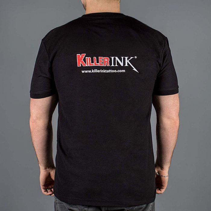 Killer Ink T-Shirt med Rundad Hals i Svart