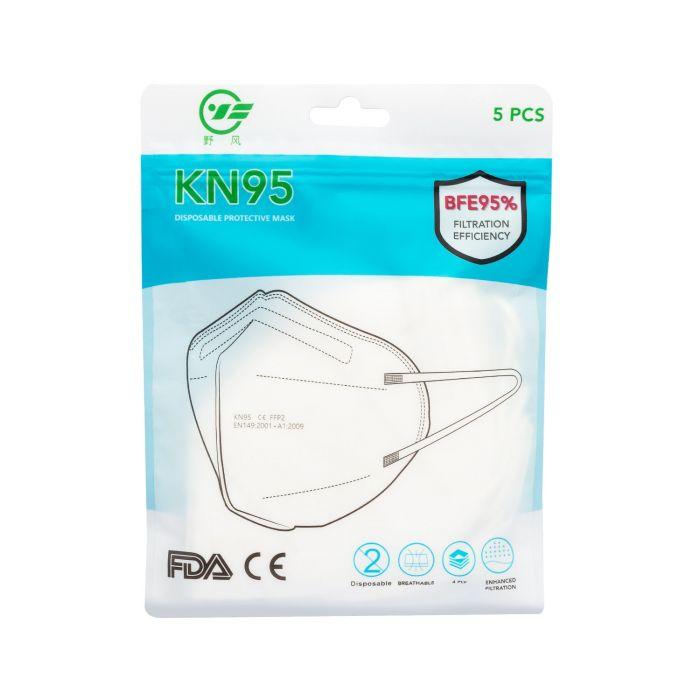 Förpackning med 5 KN95 ansiktsmasker