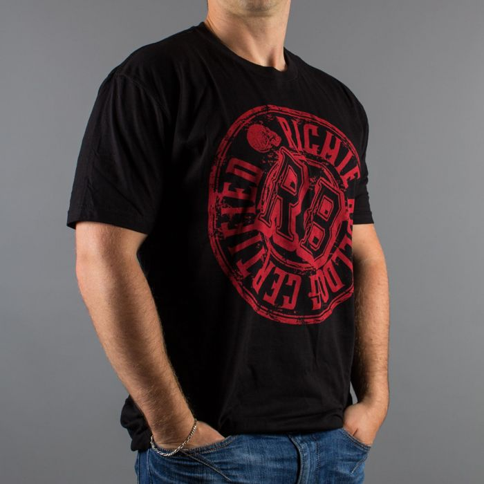 Luxury Hustle Wear T-Shirt Richie Bulldog Certified i Svart/Rött
