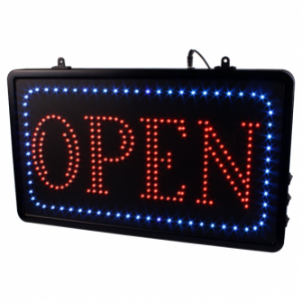 Upphängbar Open LED Studio Skylt EU med Kedja