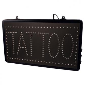 Upphängbar Tatueringssalongs LED Studio Skylt EU med Kedja